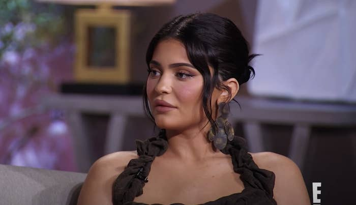 """Kylie Jenner, with her hair up and with ringlets, from the """"KUWTK"""" reunion"""