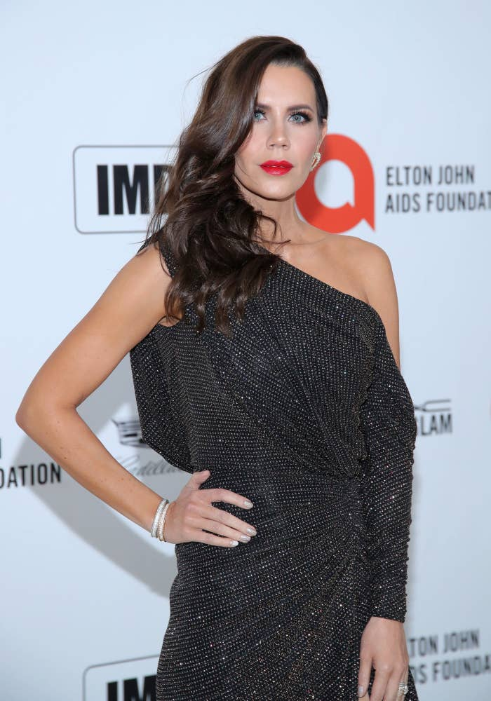 Tati Westbrook, hand on hip, on the red carpet for an Elton John AIDS Foundation event