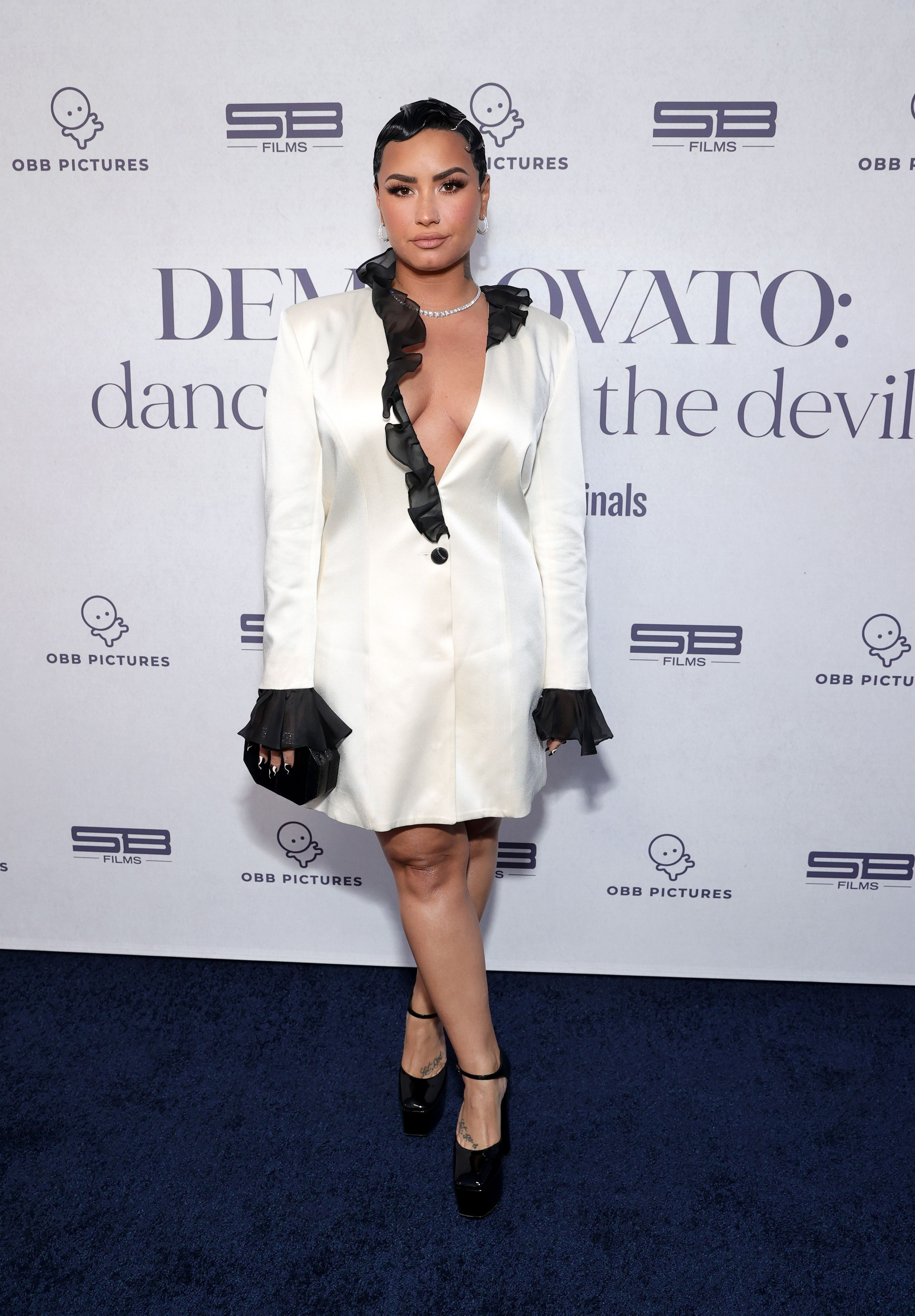 """Demi Lovato attends the OBB Premiere Event for YouTube Originals Docuseries """"Demi Lovato: Dancing With The Devil"""" at The Beverly Hilton on March 22, 2021 in Beverly Hills, California"""