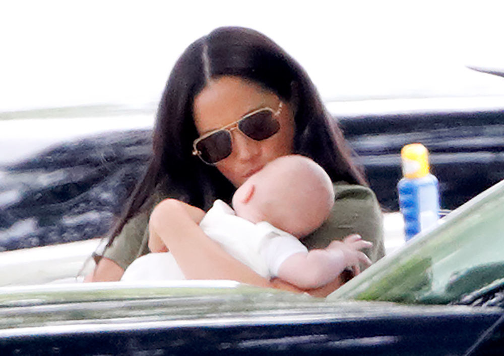 Meghan Markle and baby Archie attend the King Power Royal Charity Polo Match