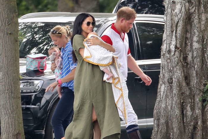 Meghan Markle, Prince Harry, and baby Archie attend The King Power Royal Charity Polo Day