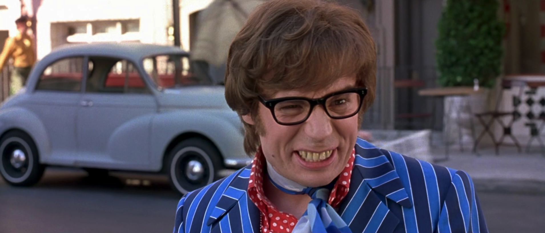 Austin Powers smiling