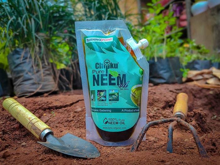 An organic gardening neem oil spray.