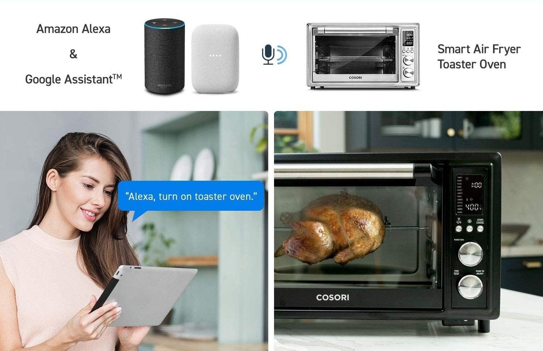 Model using Amazon Alexa to operate the toaster oven