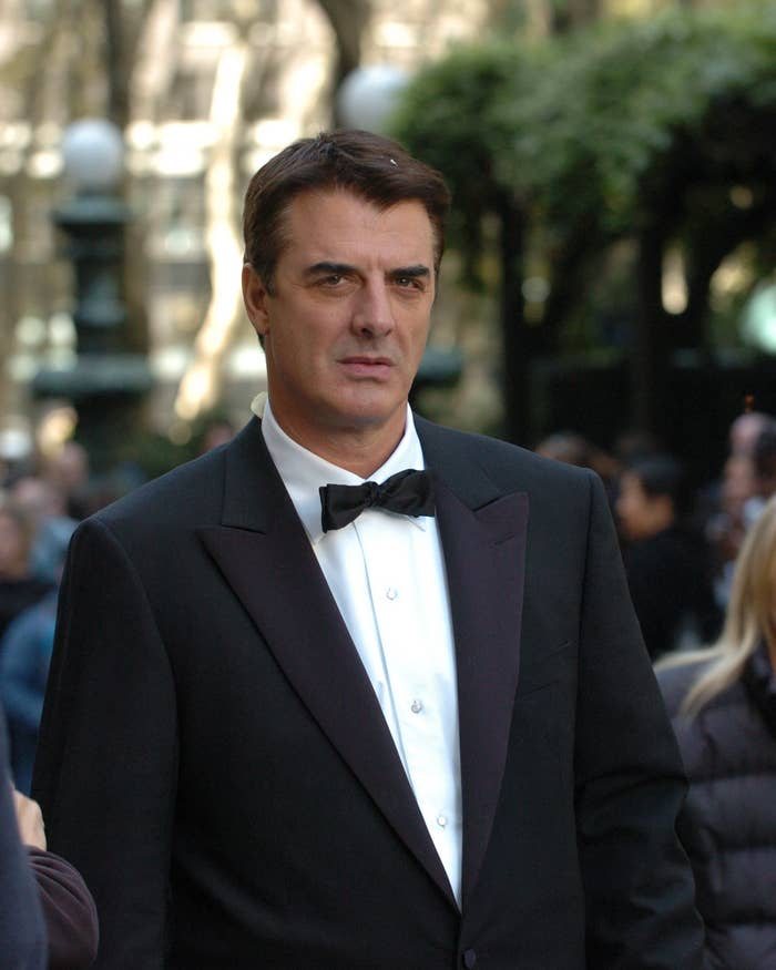 """Chris Noth is pictured wearing a tuxedo in this still image from """"Sex and the City"""""""