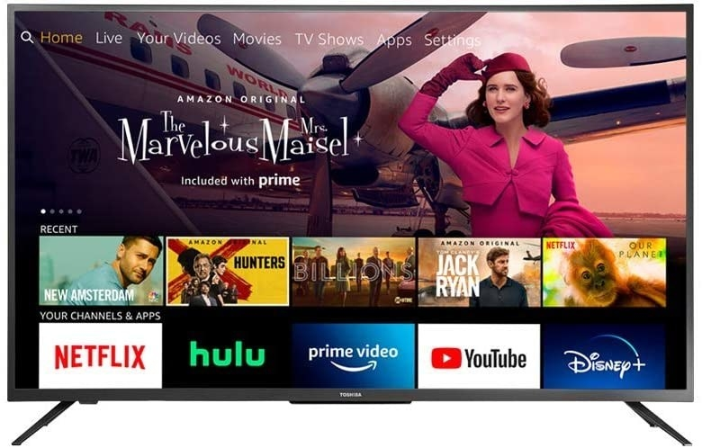 the TV showing streaming apps