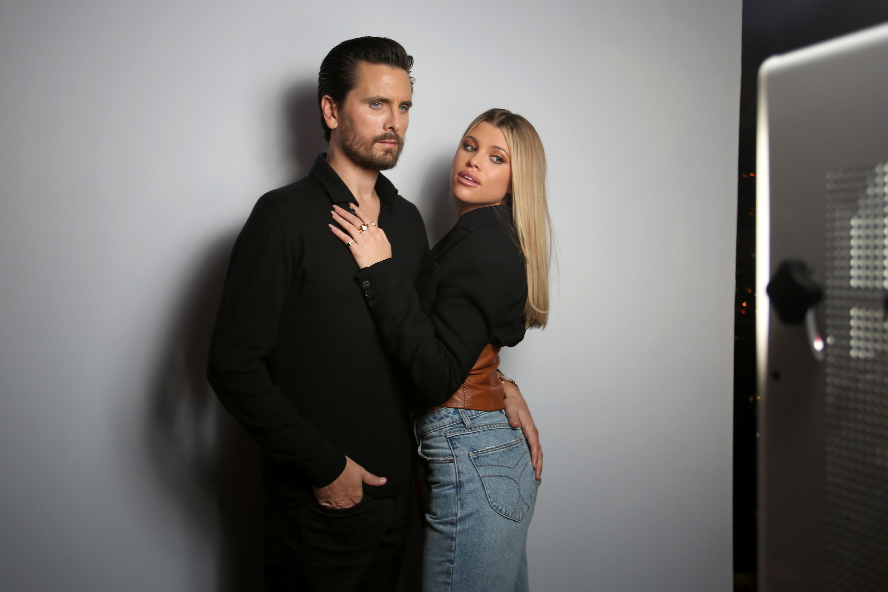 Scott Disick and Sofia Richie attend Rolla's x Sofia Richie Launch Event at Harriet's Rooftop on February 20, 2020 in West Hollywood, California