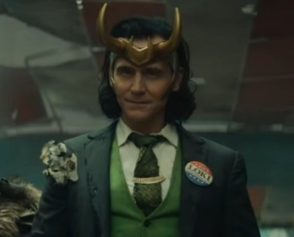 loki with a political pin
