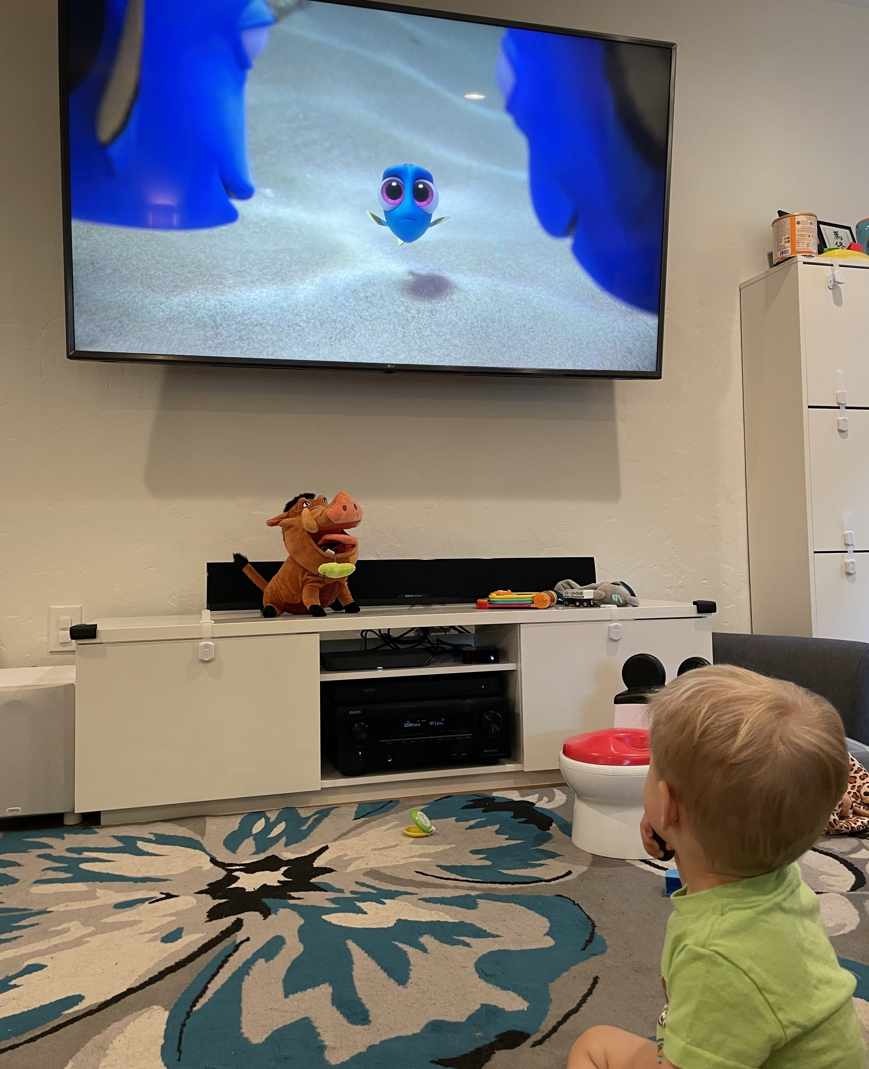 """My toddler Leon watching """"Finding Dory"""""""