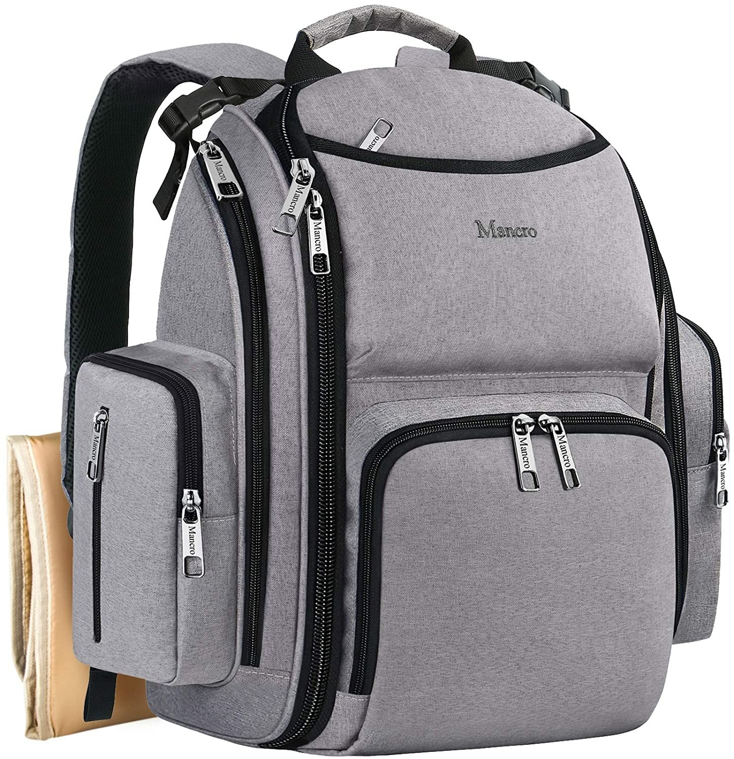 Image of gray backpack closed,