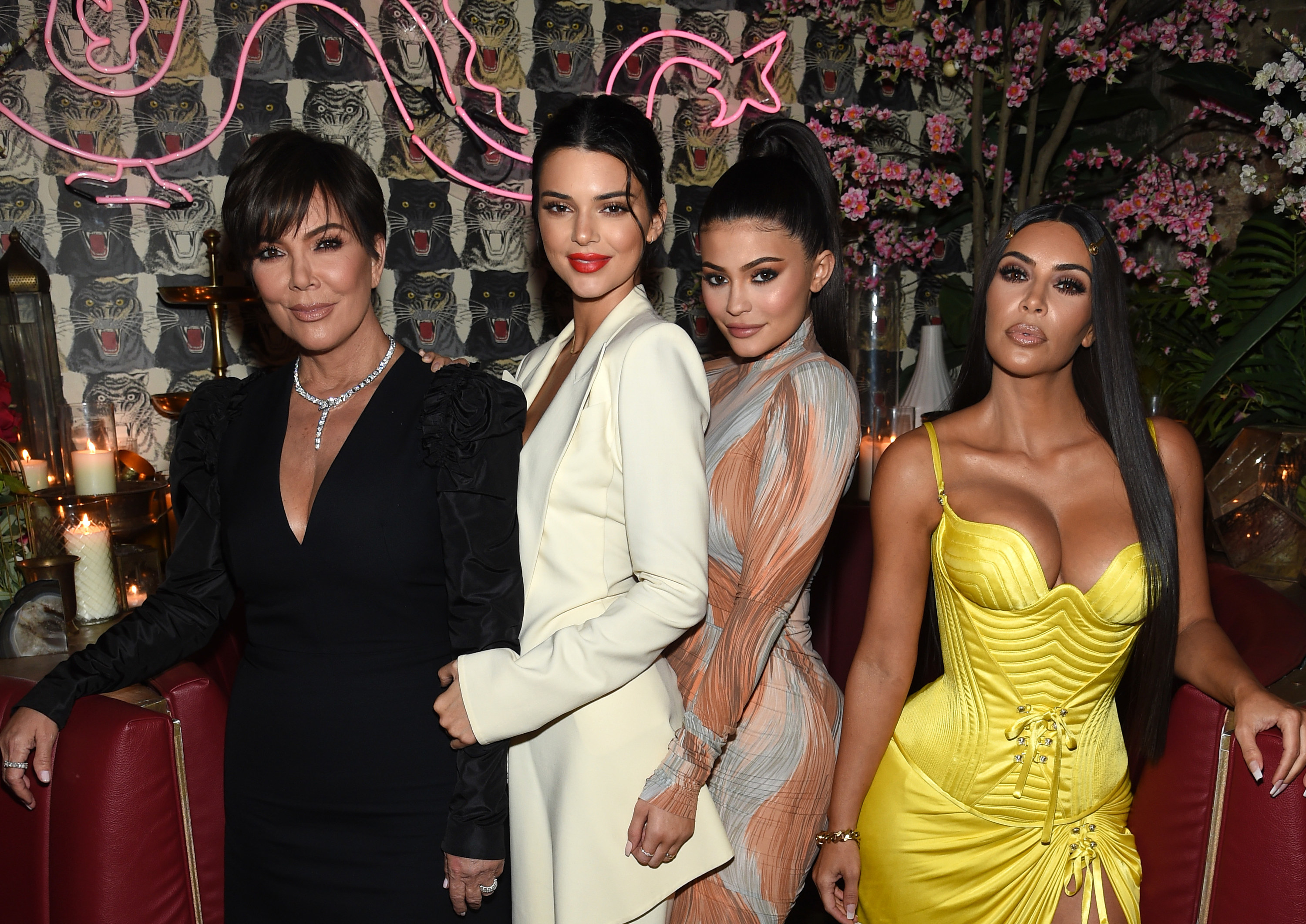 Kris, Kendall, Kylie, and Kim pose together