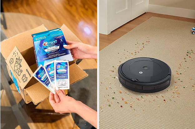 Crest White Strips and a roomba