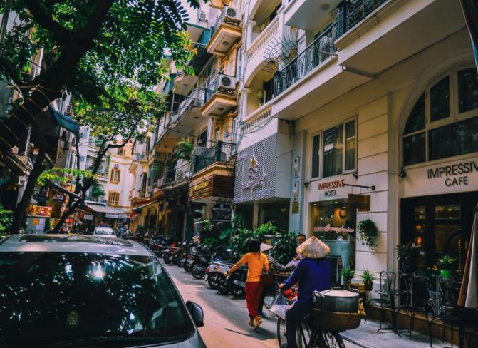 A laneway in Vietnam