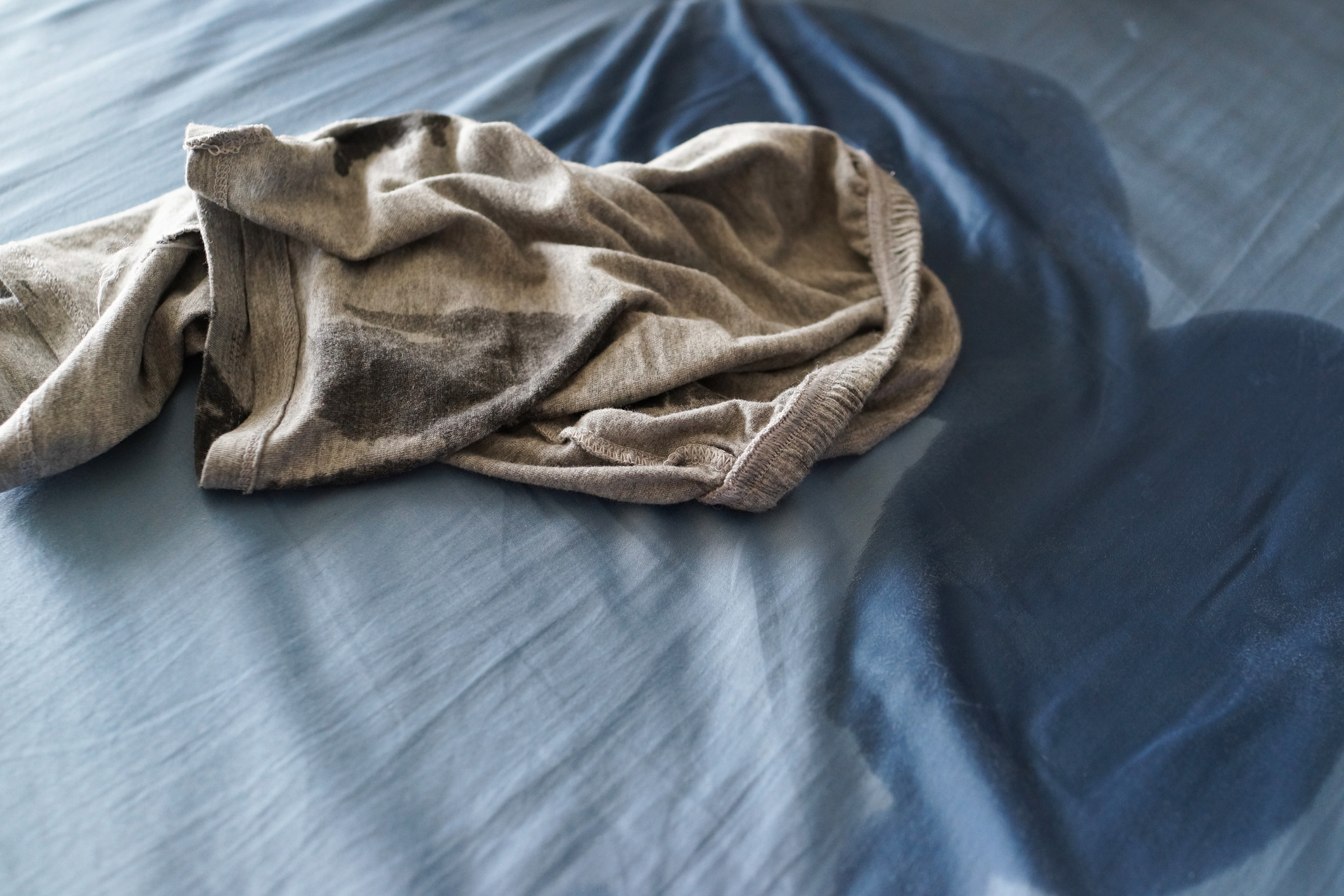 Bed sheets that are absolutely soaked