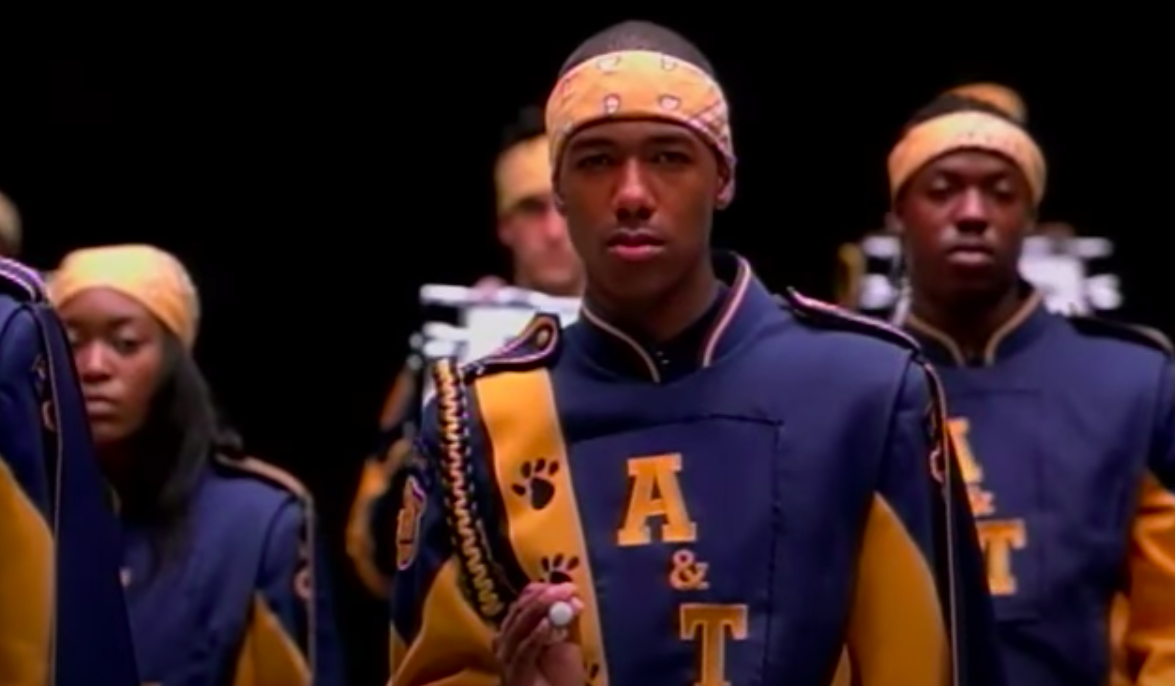 The marching band looking focused, especiallyDevon
