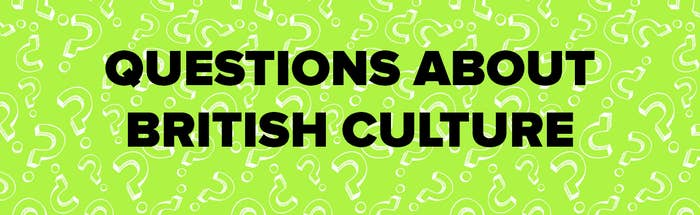 """Text saying """"questions about British culture"""" on a colourful background"""