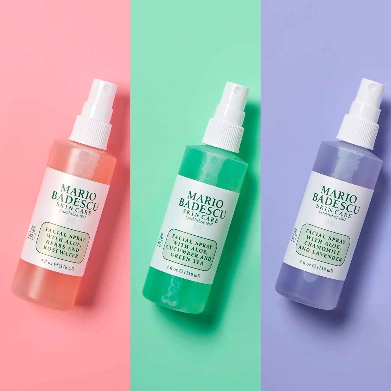 the three facial sprays