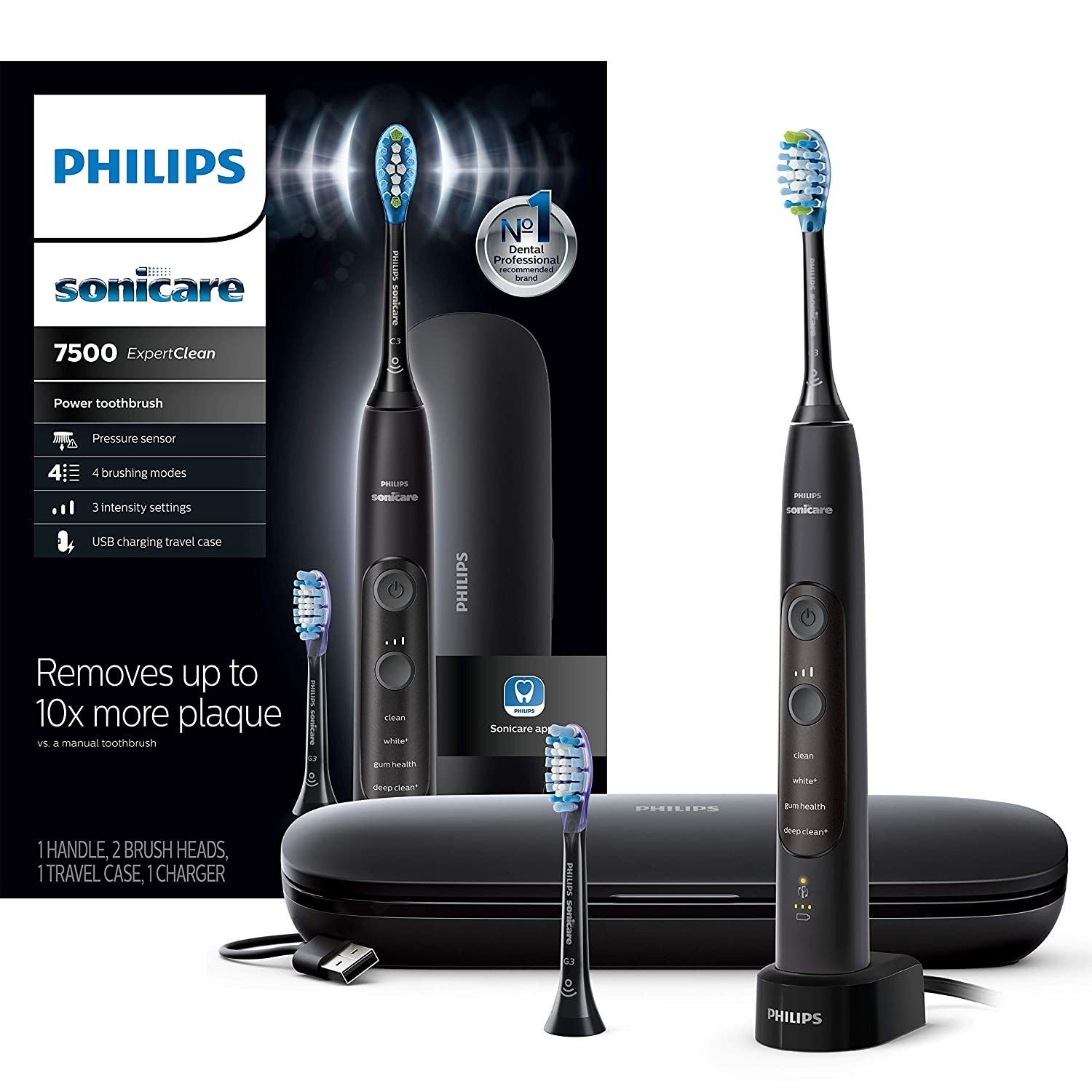 The toothbrush in black