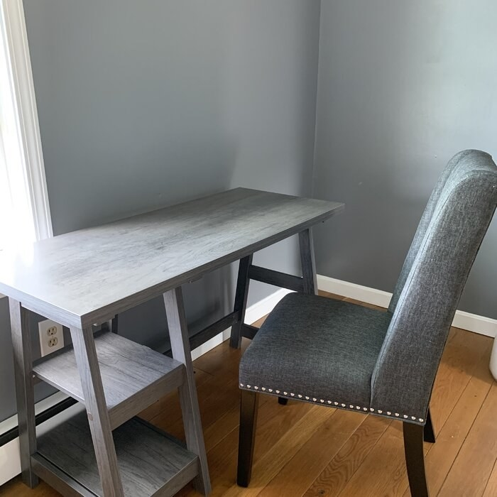 The desk with a chair in a reviewer's home