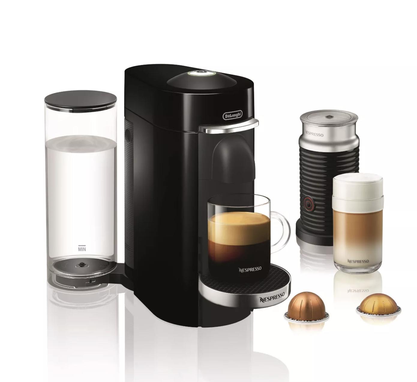 The Nespresso coffee maker