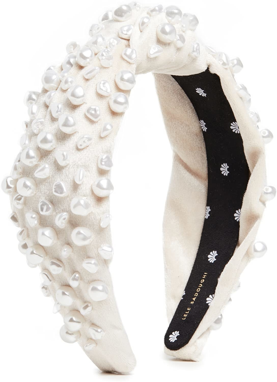 white embellished headband
