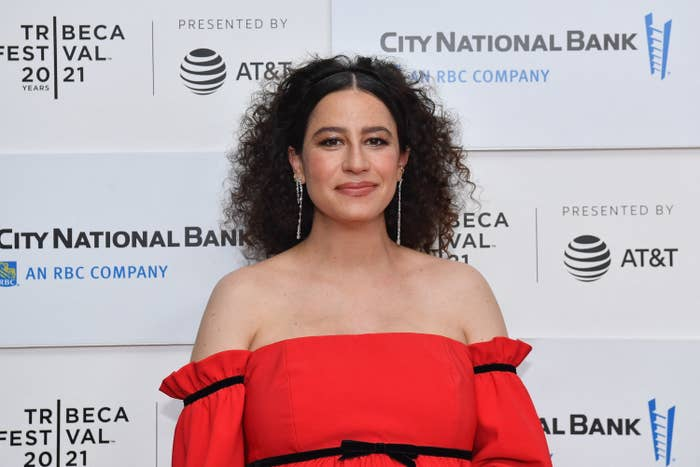 """Ilana Glazer is photographed at the premiere of """"False Positive"""""""