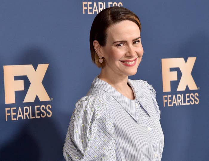 Sarah Paulson is photographed at a red carpet event