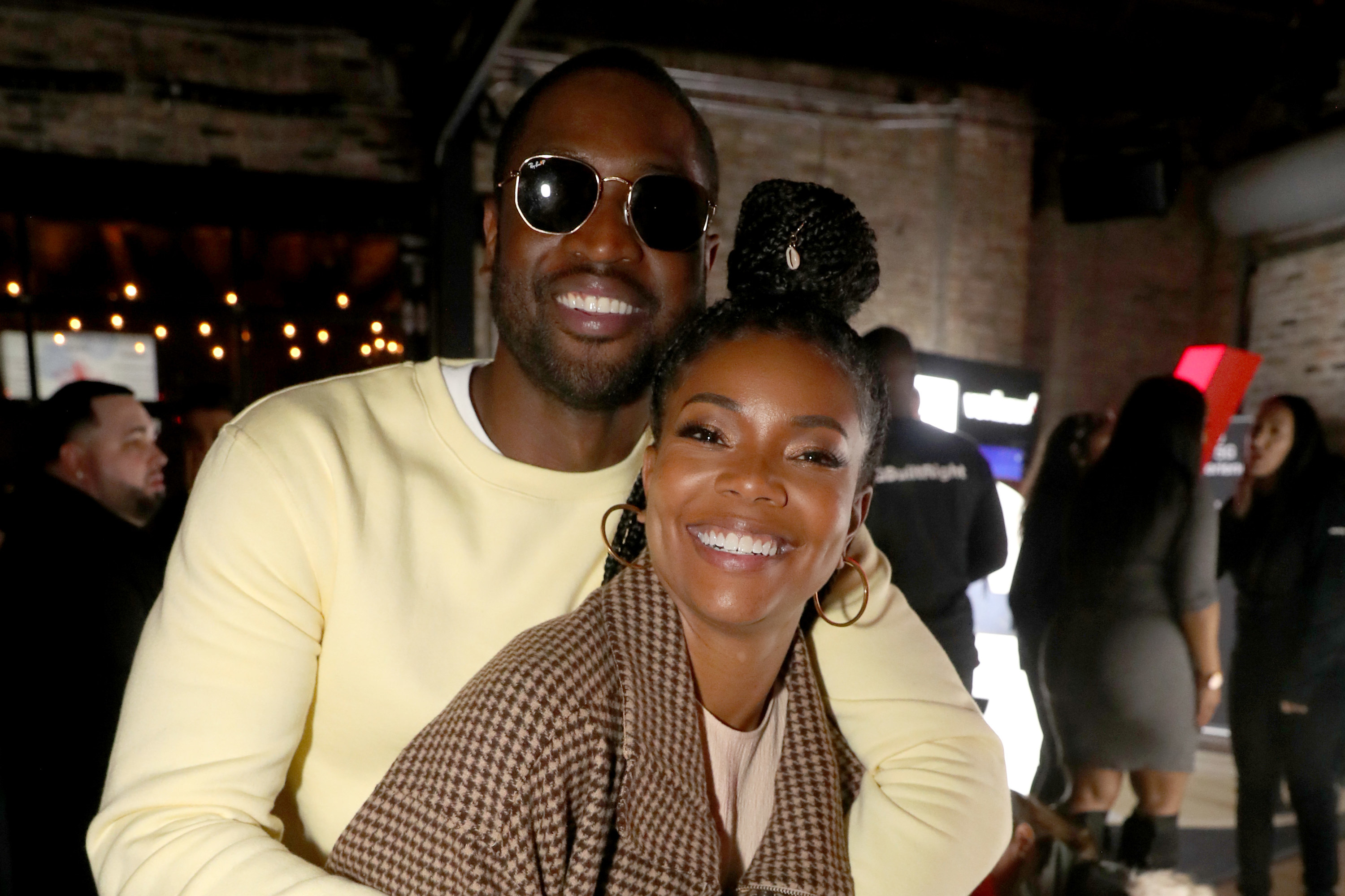 Dwyane Wade and Gabrielle Union attend Stance Spades At NBA All-Star 2020 at City Hall on February 15, 2020 in Chicago, Illinois
