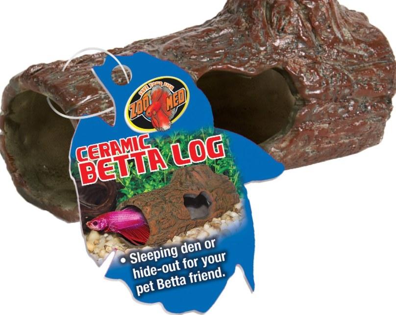 An image of a ceramic betta log sleeping den