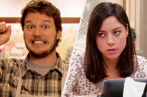 Andy and April from parks and rec being VERY different personality types