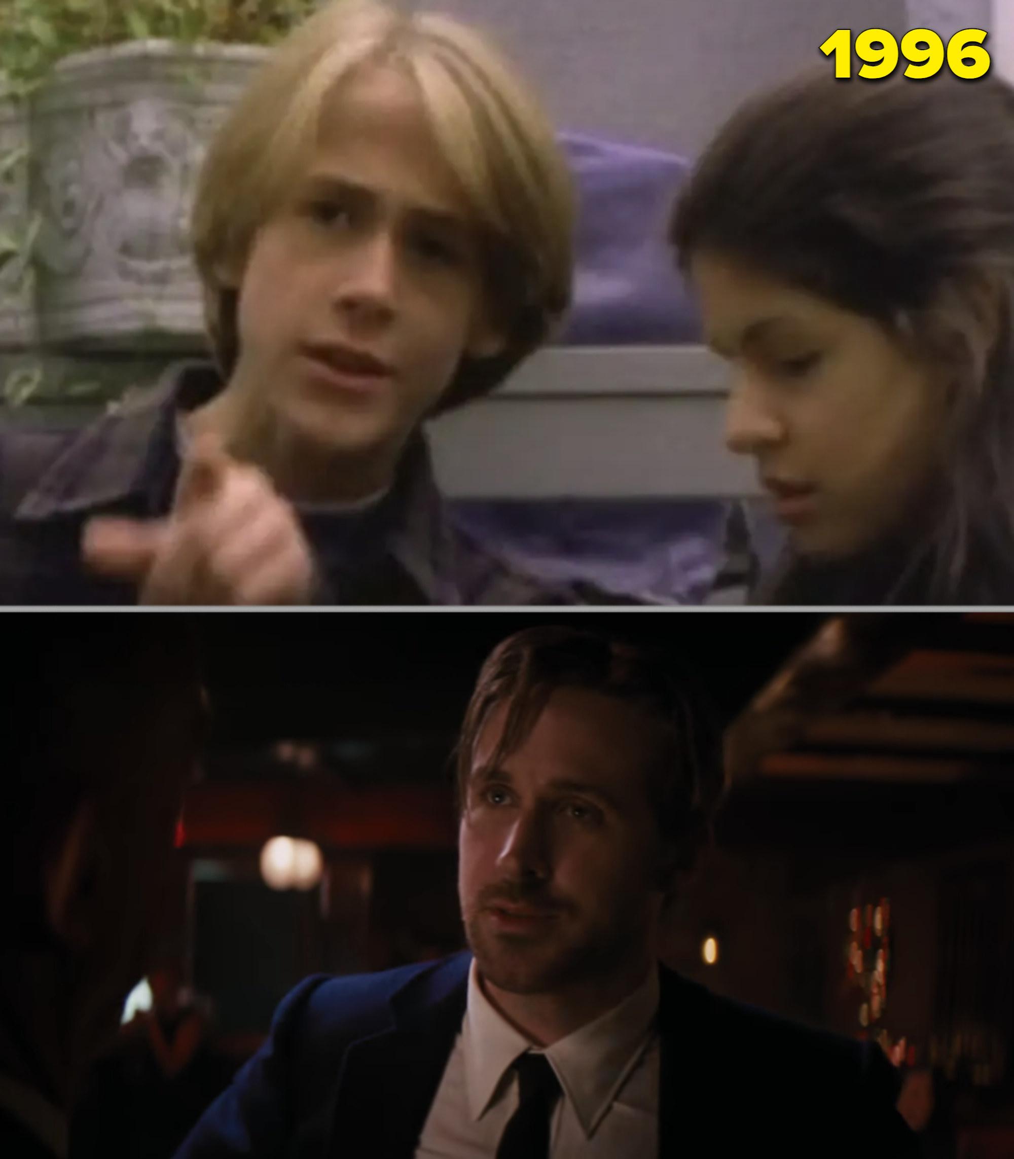 "Ryan Gosling in ""Goosebumps"" in the '90s from him in ""La La Land"" as an adult"
