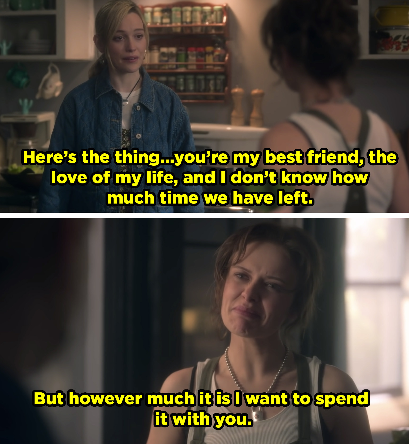 Dani tells Jamie she wants to spend the rest of her life with her.
