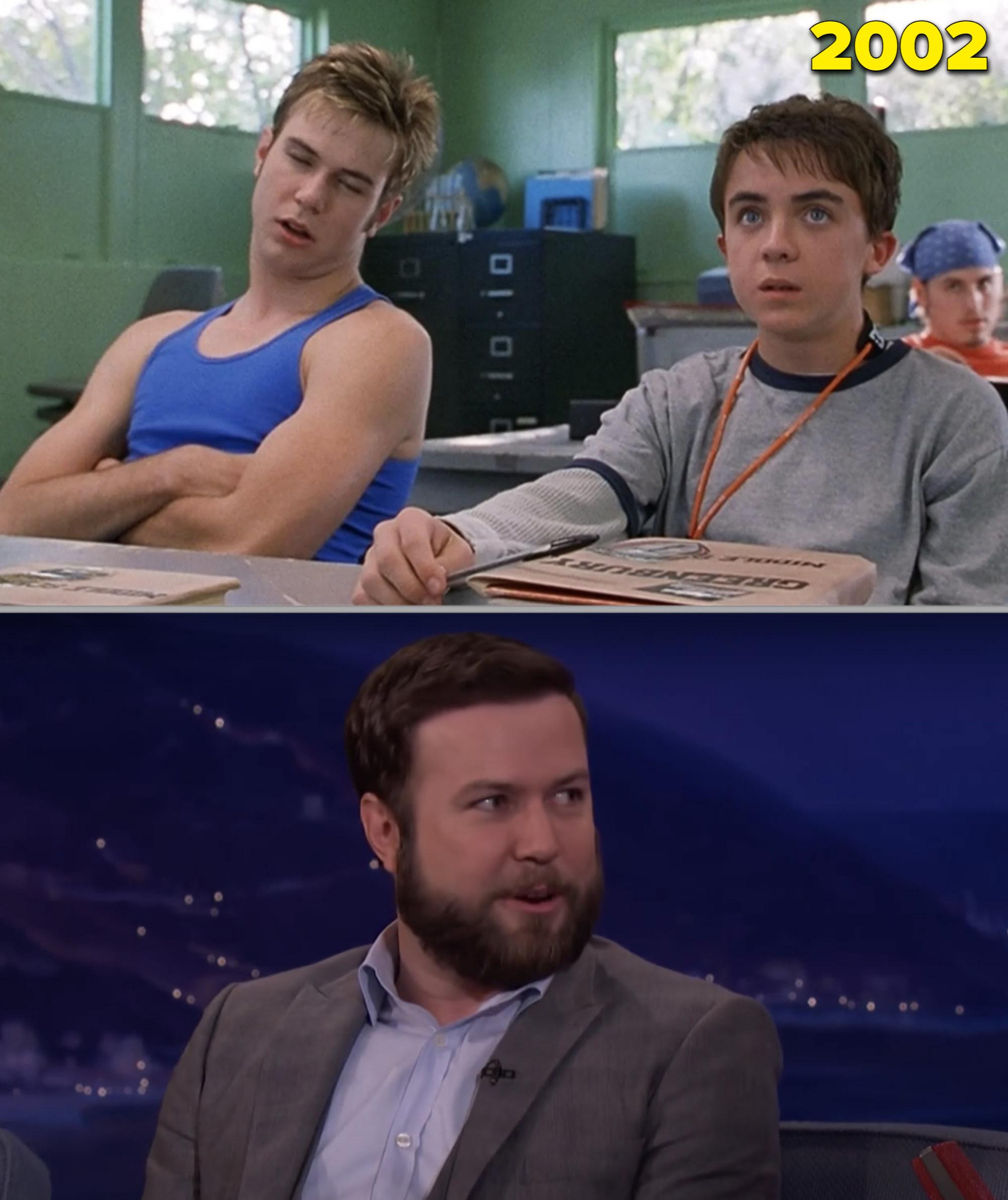 "Taran Killam in ""Big Fat Liar"" vs. him being interviewed by Conan O'Brien in 2017"