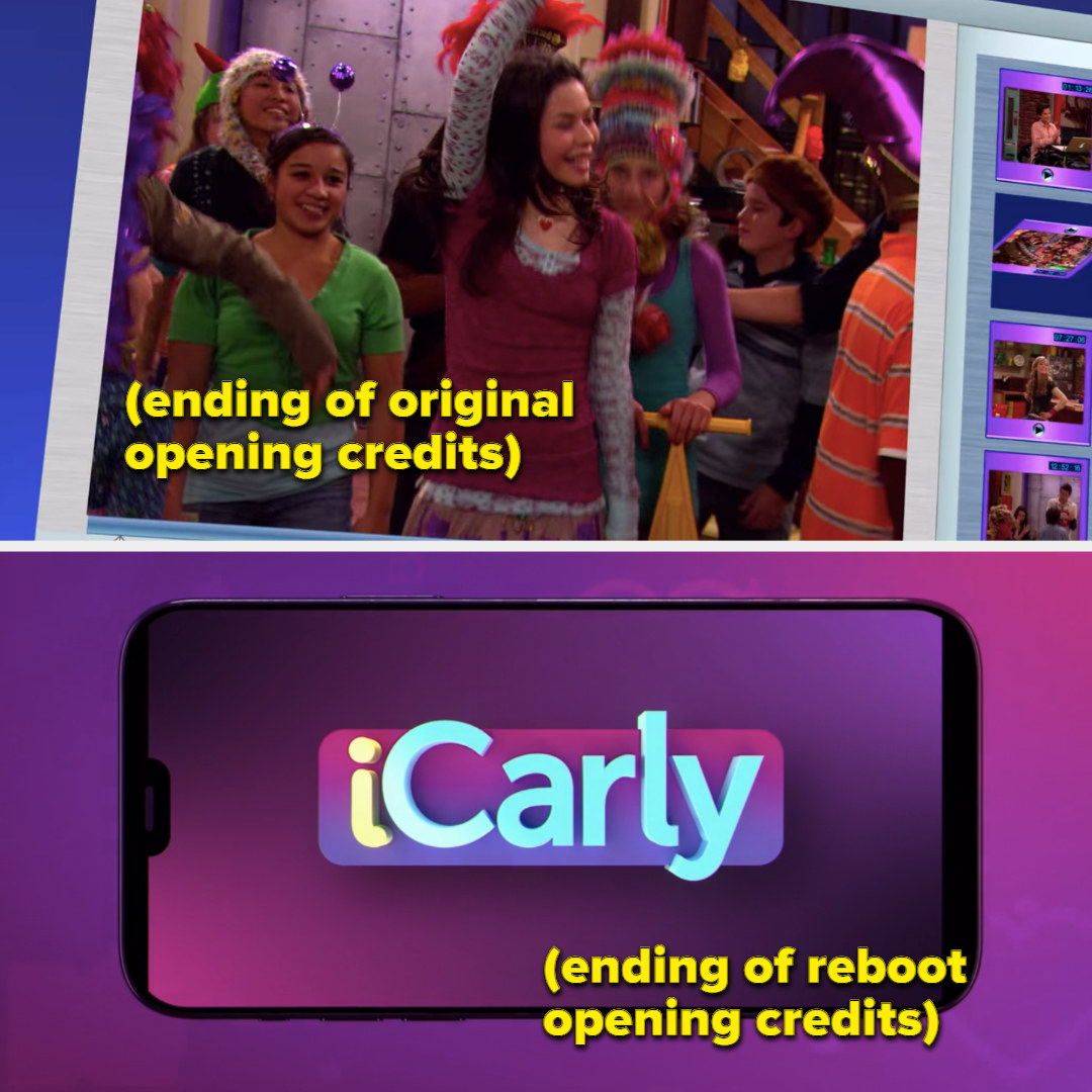 In the reboot, the overall branding of ICarly is much stronger than the OG ICarly.