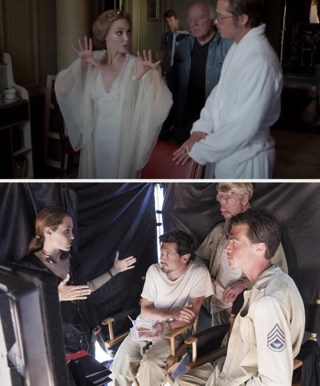 "Jolie directing Pitt in ""By the Sea;"" Jolie behind the scenes directing ""Unbroken"""