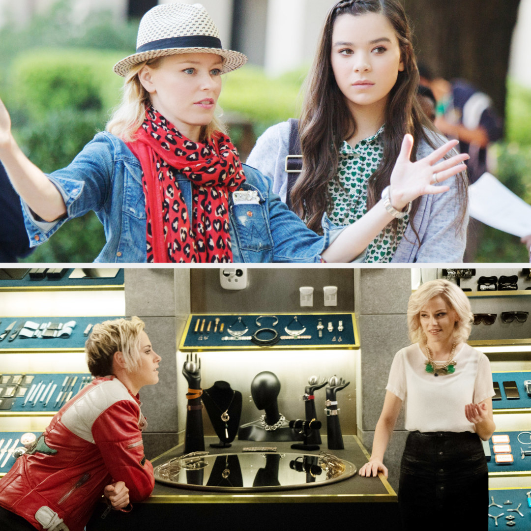 """Elizabeth Banks directingHailee Steinfeld in """"Pitch Perfect 2;"""" Banks acting with Stewart in """"Charlie's Angels"""""""
