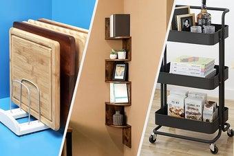 cutting board rack, corner shelf, utility cart