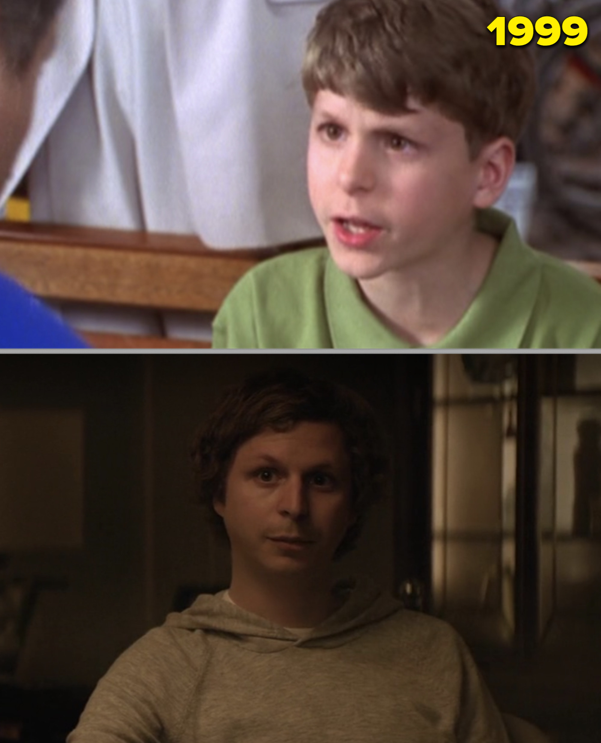 """Michael Cera as a kid vs. as an adult in """"Molly's Game"""""""