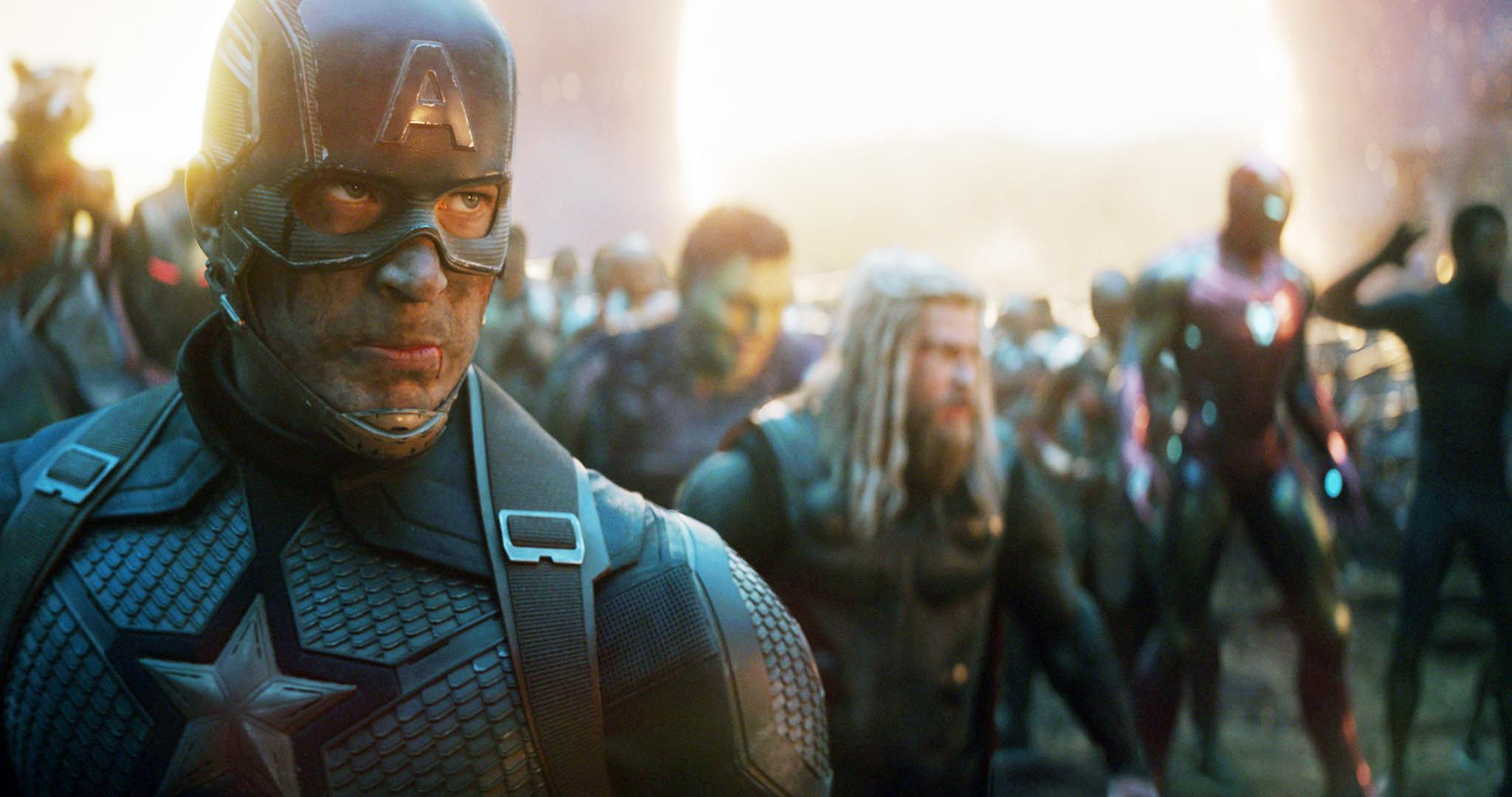 Superheroes gathered together