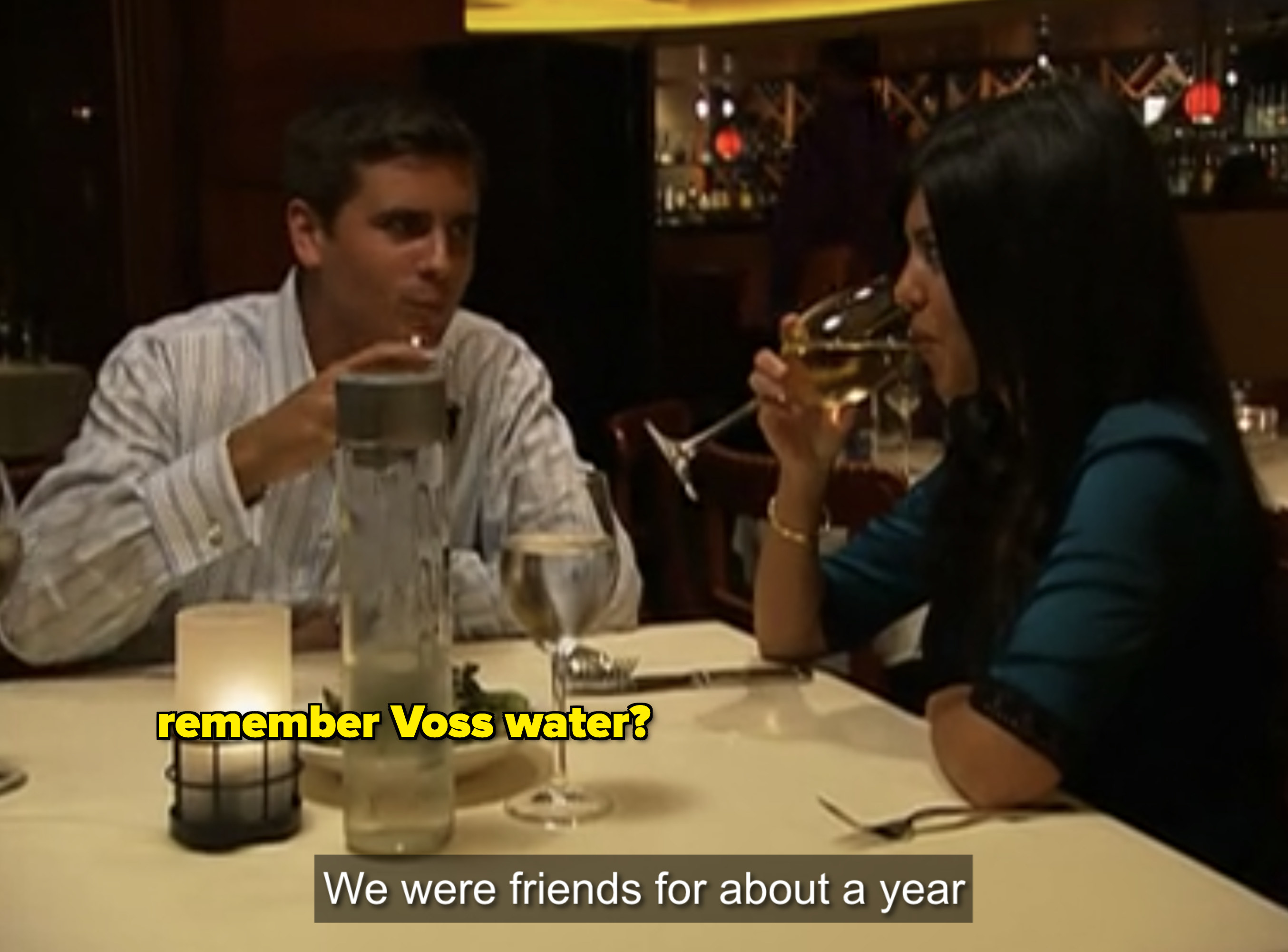 """""""We were friends for about a year."""""""