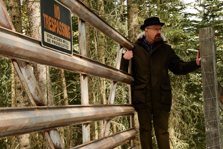 Walter White trespassing