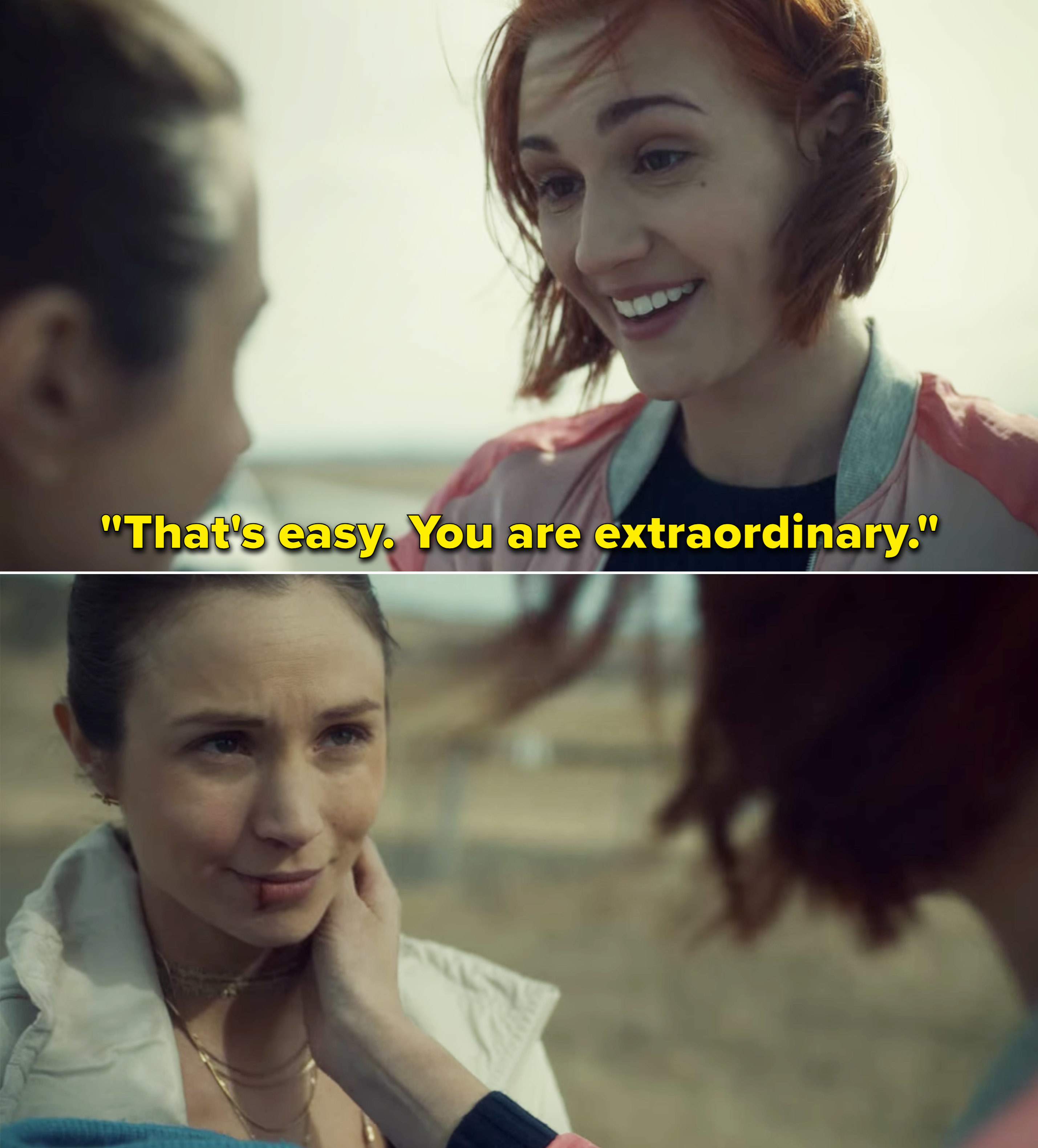 """Nicole telling Waverly,""""That's easy. You are extraordinary"""""""