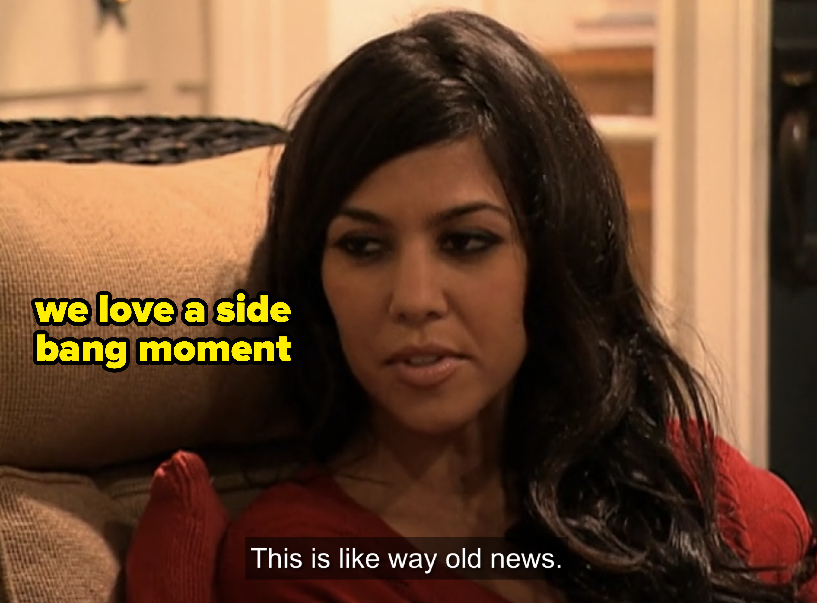 """Kourtney with Kris: """"This is like way old news"""""""