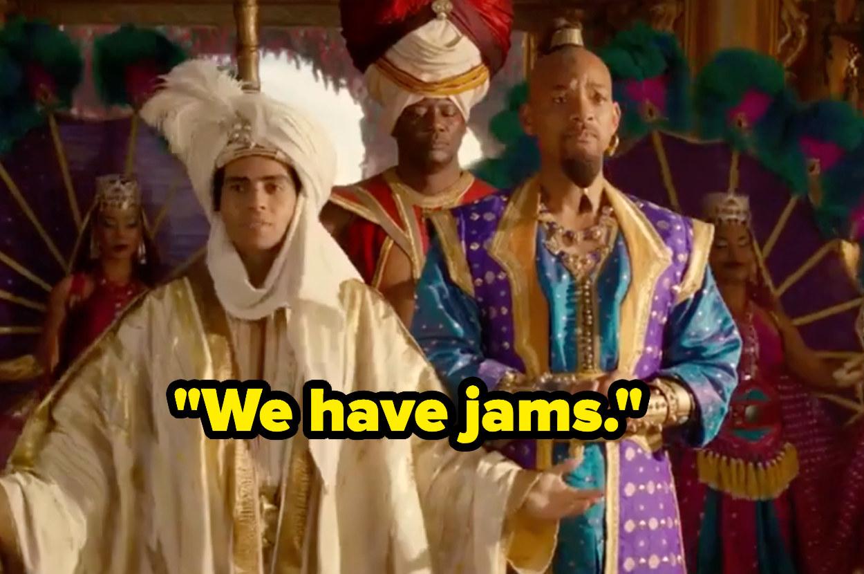 """Aladdin saying """"We have jams"""""""