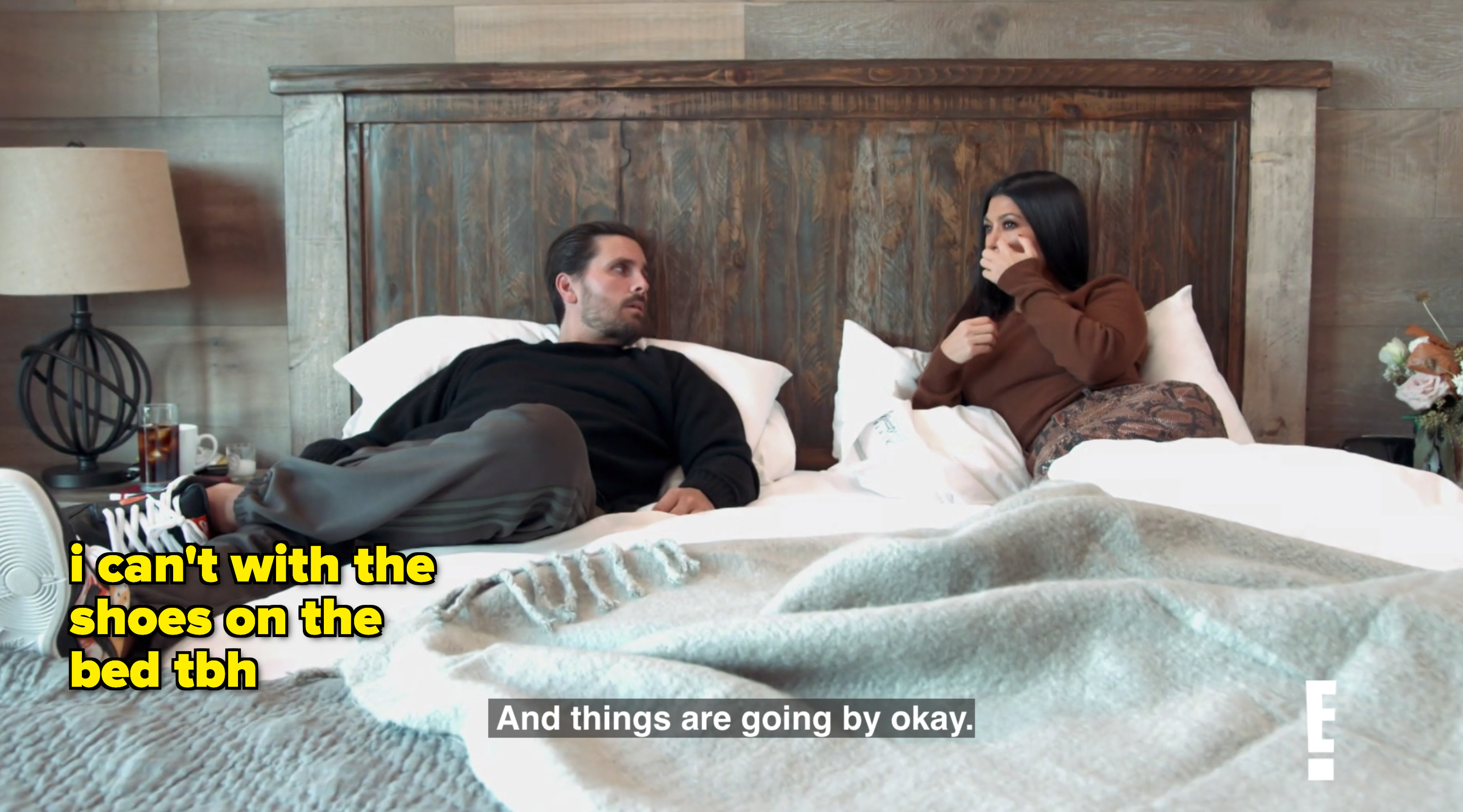 Scott and Kourt in bed saying things will be okay