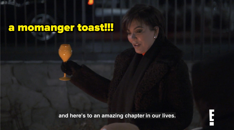 Kris toasting