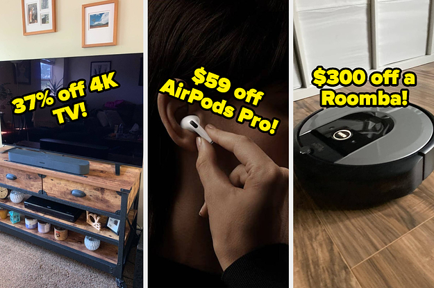 L: 4K TV that's 37% off, AirPods for $59 off, $300 off a Roomba