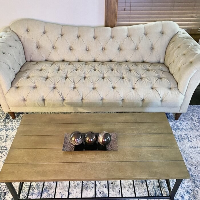 The couch in a reviewer's living room