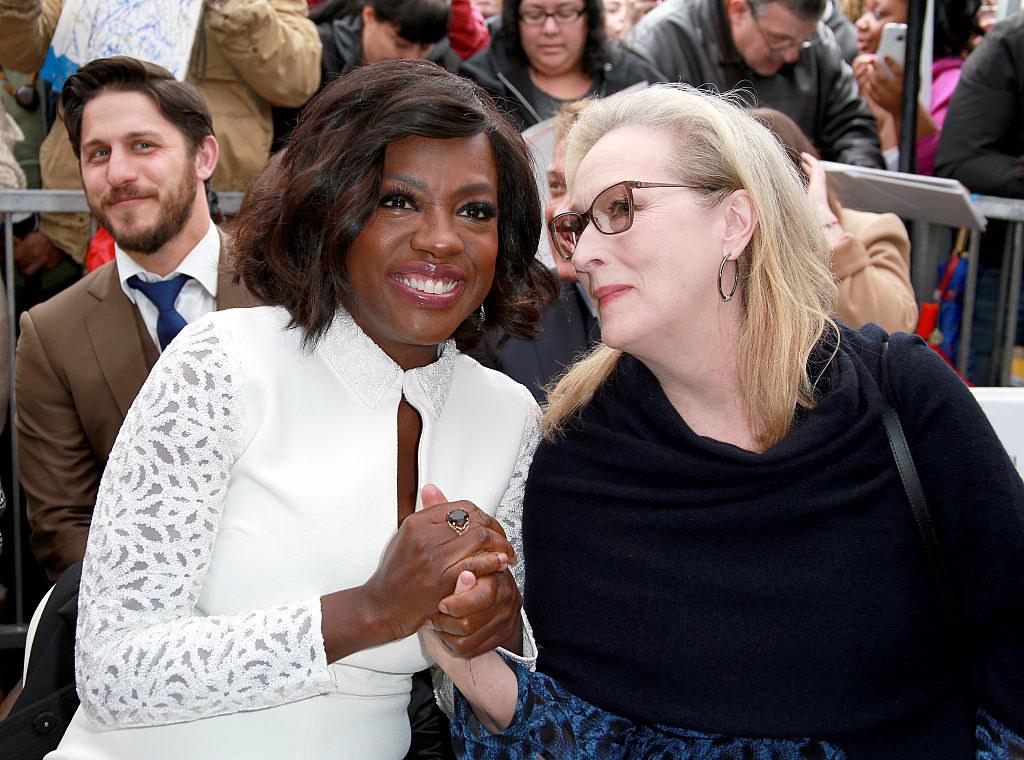 Viola Davis and Meryl Streep sit together