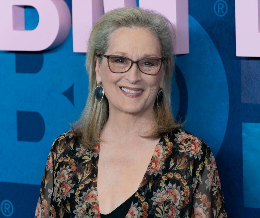 Meryl Streep smiles at camera
